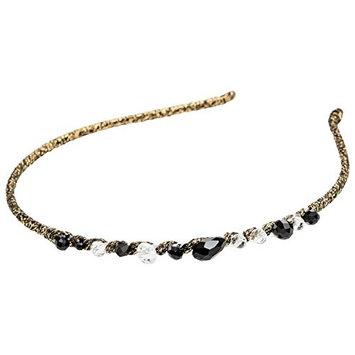 DCNL Gold Thread Headband With Beads