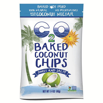 C2O Baked Coconut Chips Sweet and Salty 2.82 oz Pouches - Pack of 6