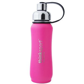 Thinksport Insulated Sports Bottle, Coated Hot Pink, 17 Oz (500ml)