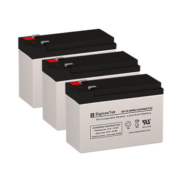 Zap Zappy 3 Standard Replacement Batteries (12V 9AH ) (Set of 3)