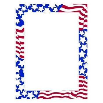 (Price/Pack)Masterpiece Studios 970130 Stars & Stripes Letterhead by America's Suppliers: Beauty