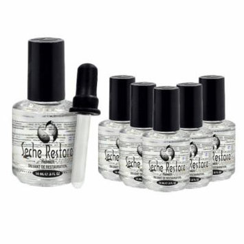 Lot 6 Seche Restore Vite Top Coat Restoration Nail Polish Clear Salon Treatment