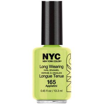 Coty N.Y.C. New York Color Long Wearing Nail Enamel, Appletini, 0.45 fl oz