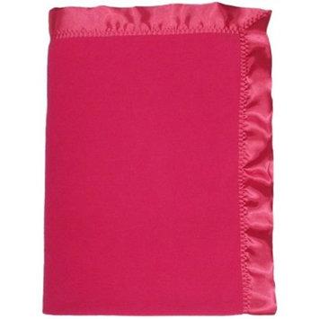 Dee Givens & Co/raindrops Dee Givens & Co-Raindrops 1403 Girl Strawberry Fleece Crib Blanket - Strawberry