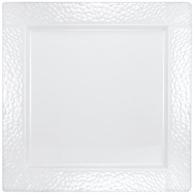 Lillian Caterware, Pebbled Square Serving Tray, Pearl, 12', 2 Ct