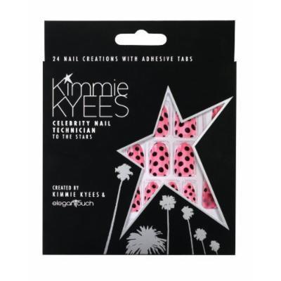 Elegant Touch Kimmie Kyees False Acrylic Press-On Fake Nails - Pink Polka Dot