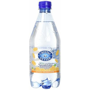 Crystal Geyser Sparkling Spring Water, Orange, 18 Ounce, 4 Count (Pack of 6)