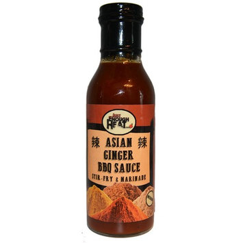 Asian Ginger BBQ Sauce - Spicy Stir Fry & Wing Sauce - Medium Heat - 2 Pack by Just Enough Heat