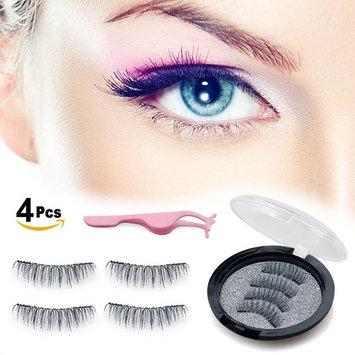 PerfectoStore Dual Magnetic False Eyelashes - Ultra-thin 0.2mm Fake Lashes- 3D Handmade Reusable Fake Eyelashes - Ultra Soft Natural Look, No Glue, Ultra Lightweight & Long 4 Pcs