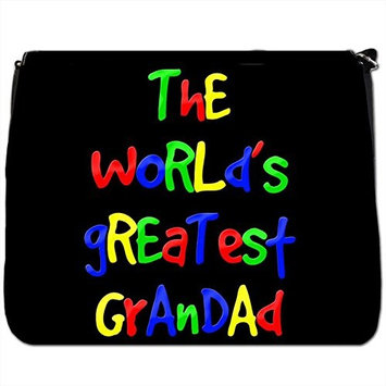 The World's Greatest Dad Fathers Day Birthday Gift Black Large Messenger School Bag [The World's Greatest Dad Fathers Day Birthday Gift]