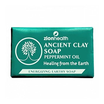 Ancient Clay Peppermint Oil Soap Zion Health 6 oz Bar Soap