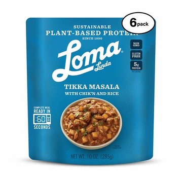 Loma Linda Blue - Plant-Based Complete Meal Solution - Heat & Eat Tikka Masala (10 oz.) (Pack of 6) - Non-GMO, Gluten Free