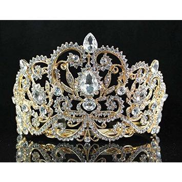 Janefashions Victorian Rhinestone Crystal Tiara Hair Combs Bridal Pageant Prom T1505g G