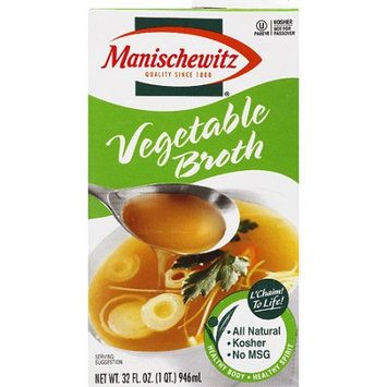 The Manischewitz Company Manischewitz Vegetable Broth, 32 fl oz, (Pack of 12)