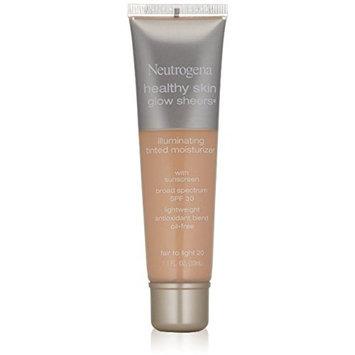 Neutrogena Healthy Skin Glow Sheers, Fair to Light [20] 1.1 oz (5 Pack)