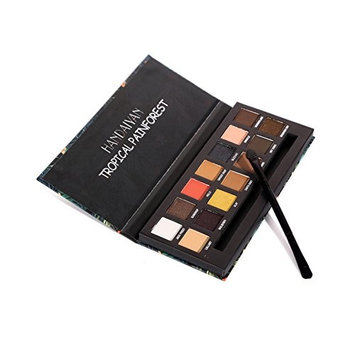 Awhao 14-Color Eyeshadow Shimmer Palette Earth Tone Matte Mermaid Color Long-lasting Eye Shadow Palette