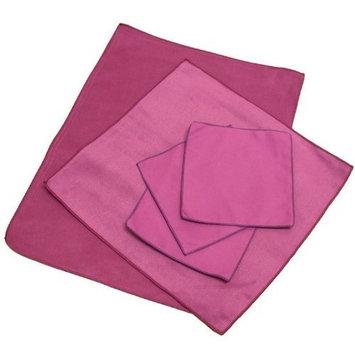 "Opti Polishing Cloths: Pkg of 5 - One 16"" x 12"", one 12"" x 12"" and three 6"" x 6"" - Wine"