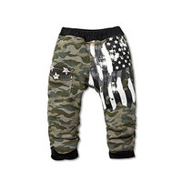 StylesILove Kids Boy Camouflage American Flag Thick Cotton Pants (3-4 Years, Black) [baby_clothing_size: baby_clothing_size-3-4years]