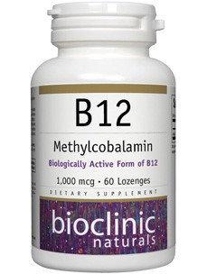 Bioclinic Naturals - B12 Methylcobalamin 1000 mcg. - 60 Lozenges
