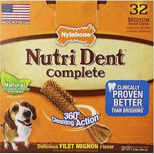Acme Furniture Nylabone Nutri Dent Complete Dental Chew - Filet Mignon Flavor Small BULK - 200 Treats - (4 x 50 Pack)