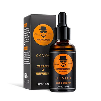 CCVOO® Organic Beard Oil Original & Sandalwood with Argan and Jojoba Oils for Men All Natural Beard Oil Conditioner and Softener -Promotes Beard Mustaches Growth, and Moisturized Skin - 1fl.oz