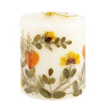 Auroshikha Aroma Sandalwood Flower Candle, Pillar Shape - 1 Ea
