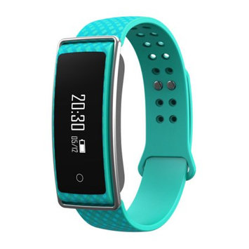 TechComm Y36+ Fitness Activity Tracker with Heart Rate Monitor, Bluetooth, Call and Text Notifications, Pedometer, Wake Gesture, Sleep Monitor and Remote Camera - Turquoise