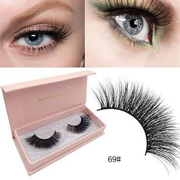 Kim88 Make Up Natural False Eyelashes 3D Mink Lashes Volume Soft Lashes Long Eyelash Extension (69#)
