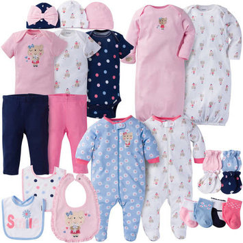 born Baby Girl Perfect Baby Shower Gift Layette Set, 23-Piece
