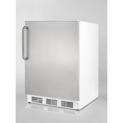 Summit FF7SSTBADA: ADA compliant commercial all-refrigerator for freestanding use, with a white cabinet, st