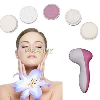 Us Deep Clean 5 In 1 Electric Facial Cleaner Face Unisex Brush Massager Scrubber