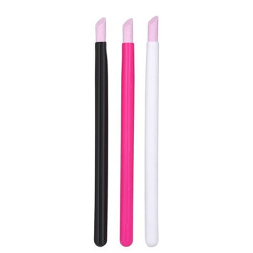 Anself 3 Pcs Nail Cuticle Remover Pen Stone Pusher Nail Cuticle Pusher Manicure Tools
