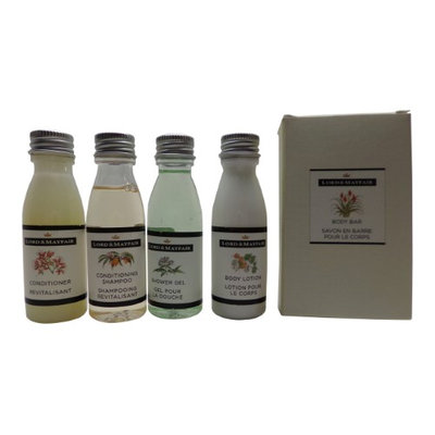 Lord and Mayfair Apple & Wicker Travel Set Shampoo, Conditioner, Lotion, Shower Gel, Soap
