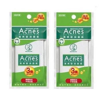 Mentholatum Acnes Oil Control Film Blotting Paper Absorbing 3 times efficient 60 sheets x 2 pack