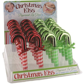 D.M. Merchandising 1980840 Christmas Candy Cane Lip Gloss - Case of 48