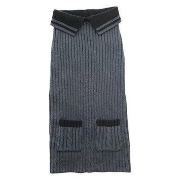 Dogit Polo Sweater - Grey, Extra Large