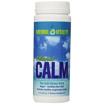 Natural Vitality Natural Calm Drink - 8 Oz. Magnesium Supplement - Organic Calm Drink - Water Soluble Drink. Dietary Supplement [Original]