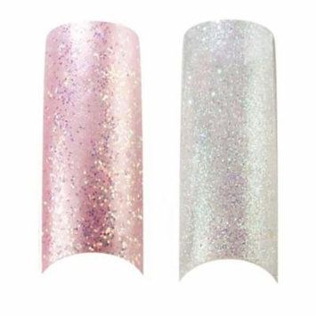 Bundle - 3 Items : Cala X2 Pack of 100 Ice Pink & Clear Glitter Professional Nail Tips (87824,87827) + Free Aviva Nail Kit