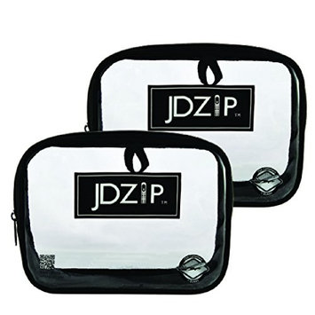 LollyZip Men's Quart Size Clear PVC Bag, TSA Compliant, Set of 2 (JD1QTB)