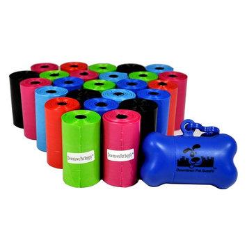 Pet Waste Bags, Dog Waste Bags, Bulk Poop Bags on a roll, Clean up poop bag refills + FREE Bone Dispenser (500 Bags)