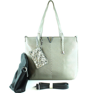 1153 Rhinestone Studded Fashion 2 in 1 Tote Bag