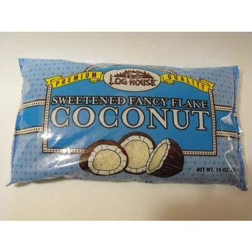 Log House Premium Quality Sweetened Fancy Flake Coconut (Pack of 2)