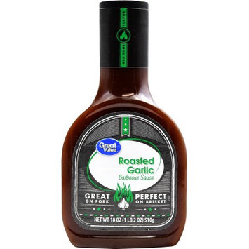 Great Value Roasted Garlic Barbecue Sauce, 18 oz