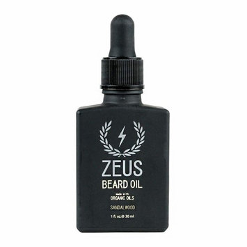 ZEUS Beard Oil made with Organic Oils - Natural Oil for Men in Gift Tin - Sandalwood [Sandalwood]