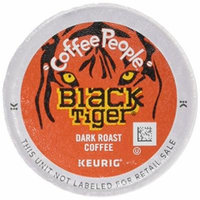 Coffee People Coffee Black Tiger Blend, K-Cup Portion Pack for Keurig Brewers, 24 count (Pack of 4)