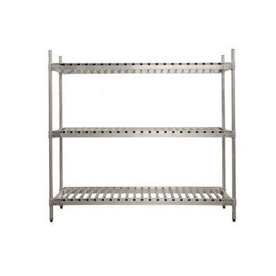 Prairie View Industries Aluminum Beer Keg Storage Rack - 3 Shelf Unit: 15 Keg Shelf