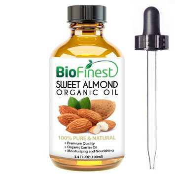 Biofinest Sweet Almond Oil Organic Oil - 100% Pure Organic Carrier Oil (100ml)
