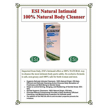 ESI Aloedermal Intimaid Gentle Intimate Body Cleanser W/Aloe- 100% Natural for Women and Men 8.45 Ounce less then $1.16 per oz Direct from Americas ONLY importer $ave