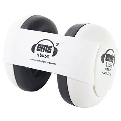 Ems 4 Bubs Hearing Protection Baby Earmuffs (White with White)