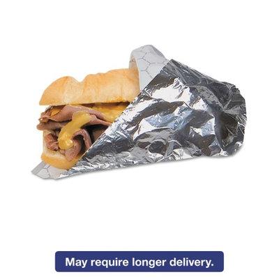 Bagcraft Paper Con BGC 300841 14 x 16 Foil Sandwich Wrap Silver 2-500